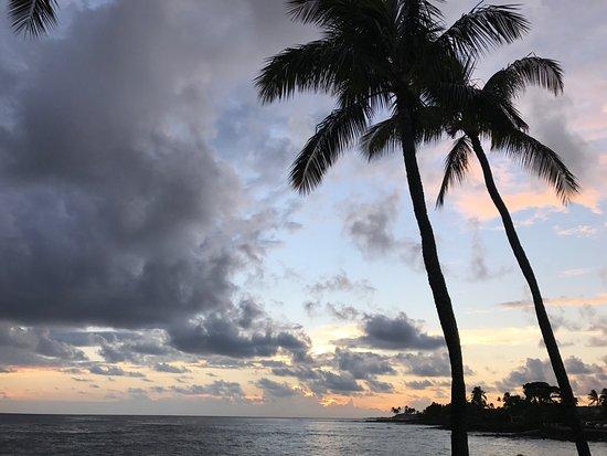 Beautiful Sunset From Beach House Kauai Picture Of Beach