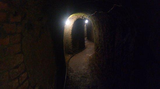 Tabor Tunnels : The doorway is an interconnection between cellars