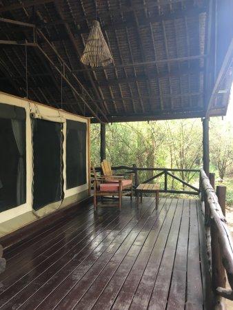 Tipilikwani Mara Camp - Masai Mara: Porch of tent.