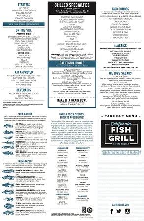 Downey, CA: California Fish Grill Menu
