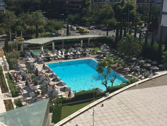 View Of Pool From Our Room Picture Of Hilton Athens Athens Tripadvisor