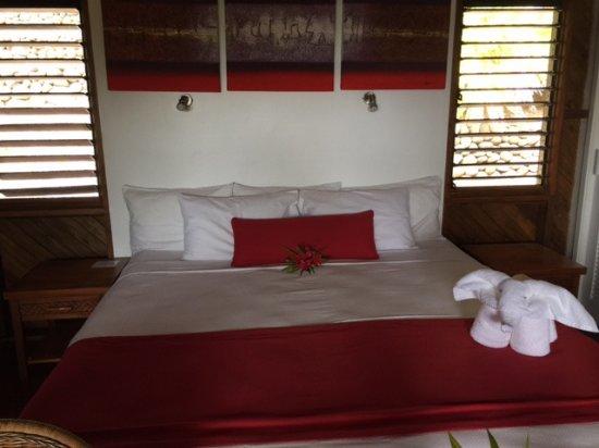 Rakiraki, Fiji: Bure was well lit, clean and spacious.