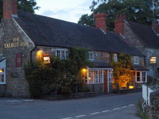 the Talbot Inn at dusk