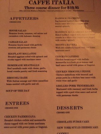 Уэйкфилд, Массачусетс: Caffe Italia