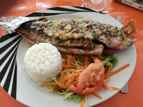 Pointe-Noire, Guadeloupe: Repas au Mambo