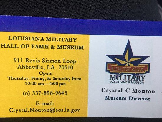 Abbeville, Луизиана: Louisiana Military Hall of Fame