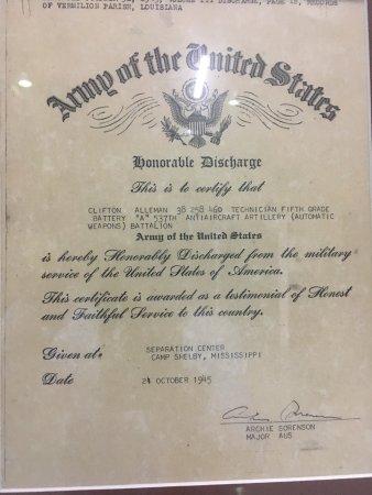 Abbeville, لويزيانا: Louisiana Military Hall of Fame