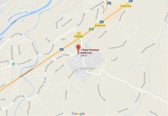 Ansfelden, Austria: Map