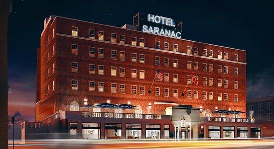 Saranac Lake, Nova York: Hotel Exterior