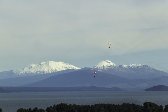 Taupo, New Zealand: If you're not jumping, this is your view...