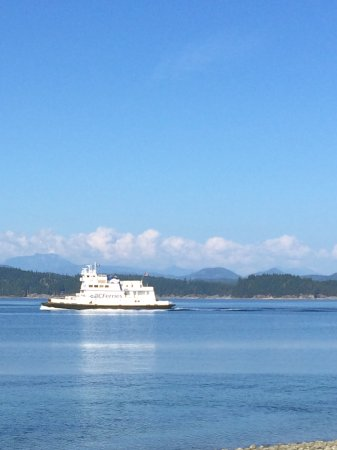 The Ferry between Cortez and Quadra Islands.