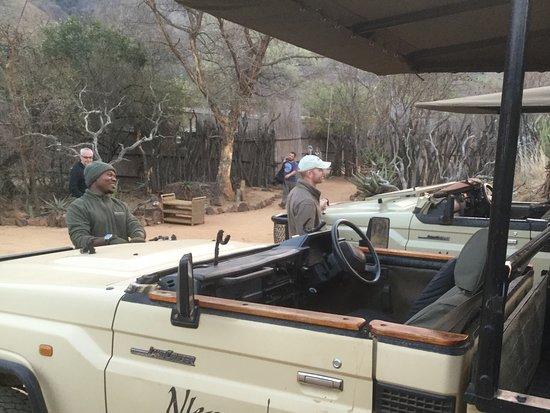 Badplaas, Sydafrika: Getting ready to go on the game drive
