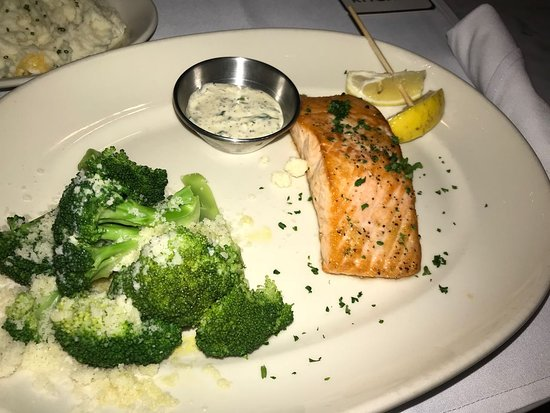 Salmon with Parmesan Broccoli - Picture of Coastal Kitchen
