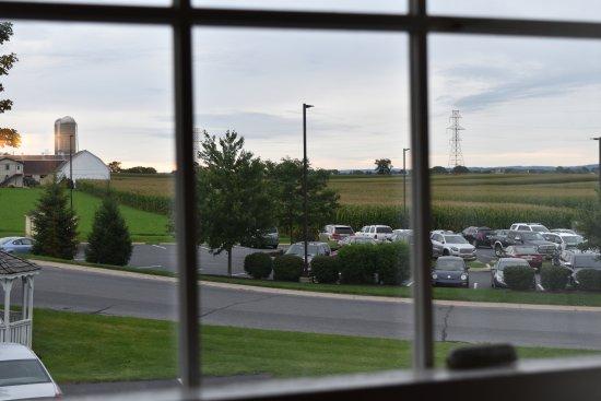 Olde Amish Inn: Vistas a la espalda de la carretera principal.