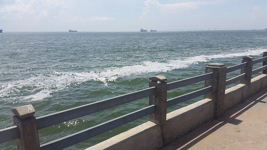La vereda del lago Maracaibo: Vista desde el malecón