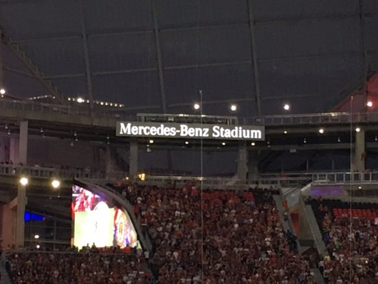 The other goal end picture of mercedes benz stadium for Mercedes benz stadium location
