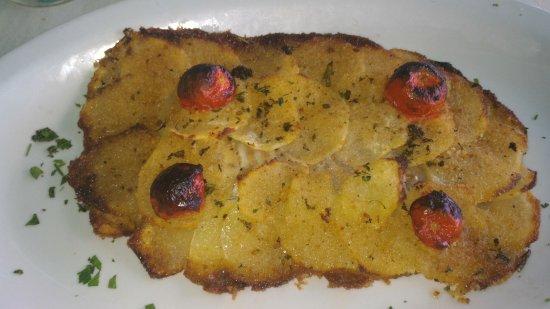 Il Ristorante La Vela: spigola in crosta di patate