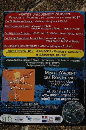 Mines d'Argent des Rois Francs: Le dépliant 2017 pour avoir une idée de cette attraction