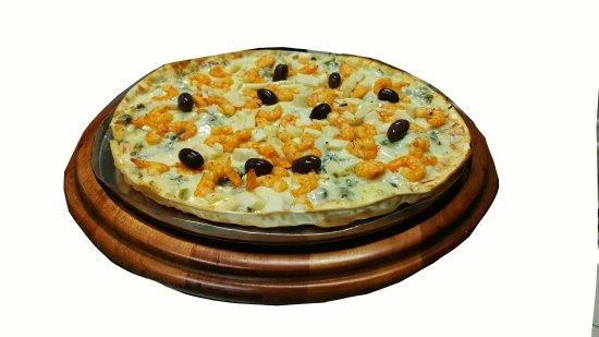 Pizza de camarão Maravilhosa, super bem recheada num tinha comido uma igual. Super recomendo, m
