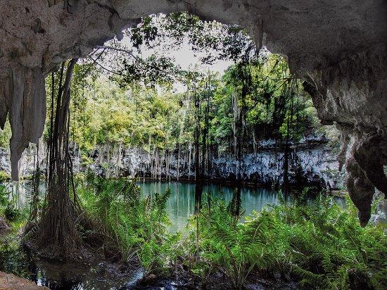 Santo Domingo, Dominican Republic: Los Tres Ojos National Park home of enchanting limestone caves.
