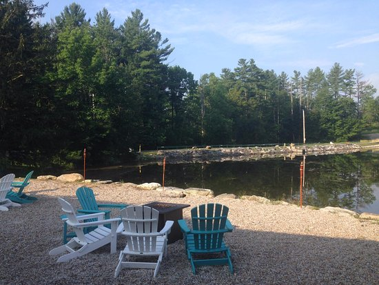 Lee, MA: fire pits water side.