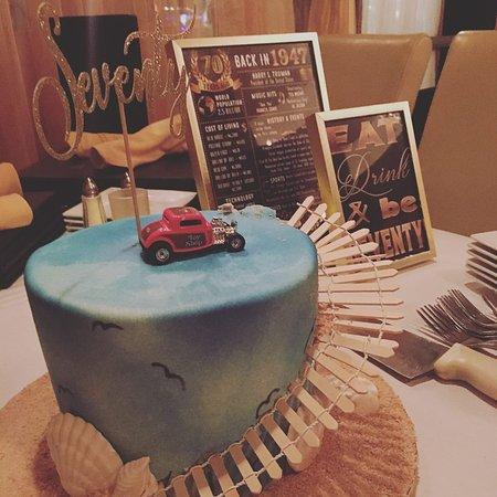 70th Birthday Celebration Cake Car Was Originally On The Fence
