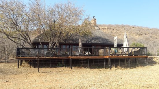 Welgevonden Game Reserve, South Africa: View towards the lodge