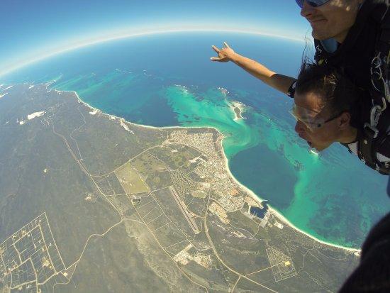 Skydive Jurien Bay Perth: Me skydiving at Jurien Bay with Skydive Jurien Bay