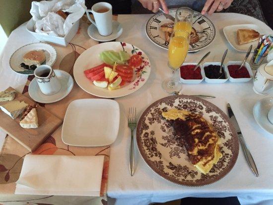 Saint-Jean-des-Piles, แคนาดา: petit déjeuner extraordinaire