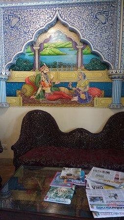 Nahargarh Haveli: Reception area