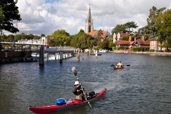 Little Marlow, UK: Marlow Lock