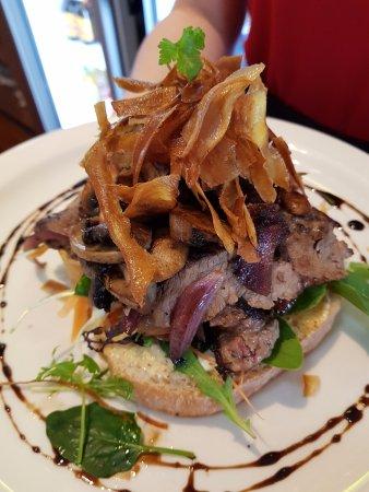 Essence Cafe: Gourmet Steak sandwich, Yummy