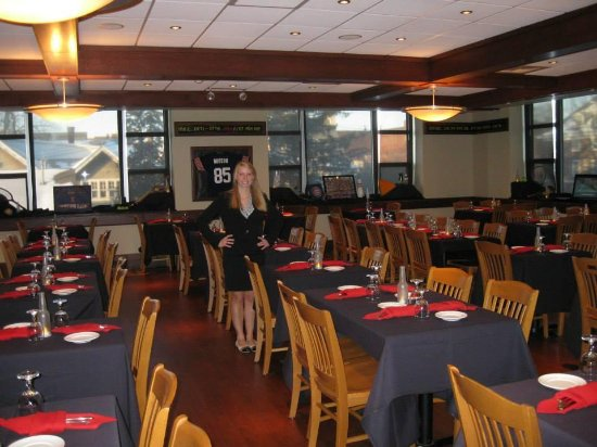 Urbana, IL: The Spice Box Dining Room; decorated for a former senior Hospitality Mgt. student's meal
