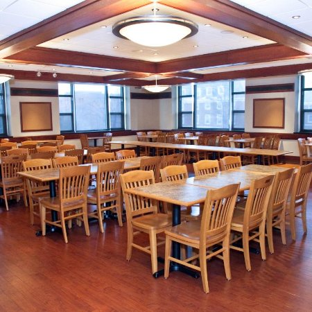 Urbana, IL: The Spice Box Dining Room. This provides a 'blank slate' for students' themed dining experiences