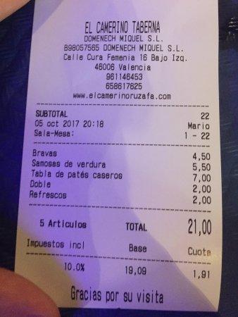 2x Tapas, 1x verschiedene Pasteten, 2x Getränke = 21€ (kostenlose ...