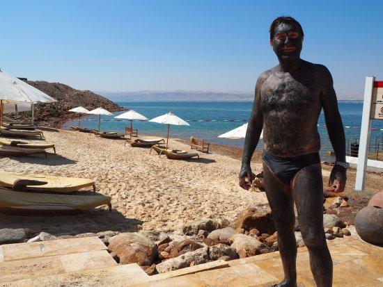 Culo Pendiente sueño  That's me, and the Dead Sea mud. - Picture of Hilton Dead Sea ...