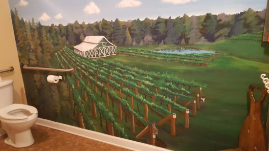 Midland, NC: Painting of the facility in the ladies' restroom