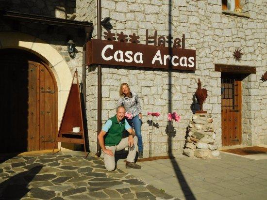 Villanova, Spain: entrance of hotel