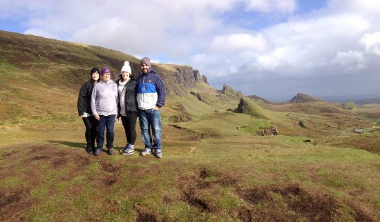 Breakish, UK: Group shot on the Quiraing