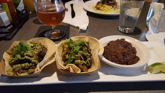 Trumansburg, NY: Steak tacos with beans