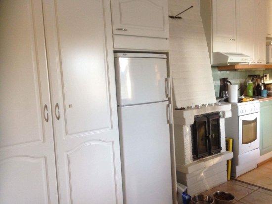Levilehto Apartments: Bra skaplass, peis og litt kjøkken