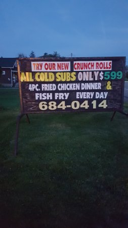 TownLine Pizza: Outside sign with phone #