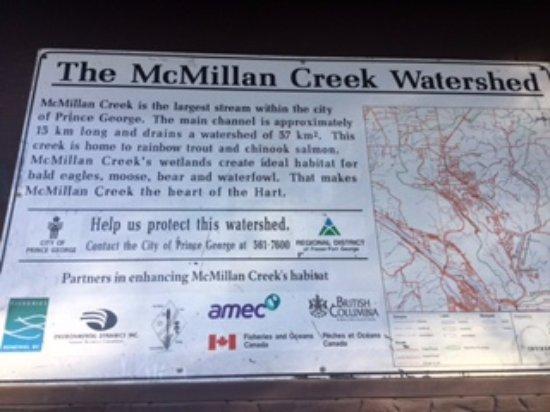 ปรินซ์จอร์จ, แคนาดา: McMillan Creek is the largest stream within the city. Fish downstream.