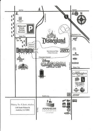 Location map/ to Disneyland - Picture of Holiday Inn Hotel & Suites ...