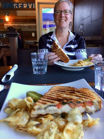 Point Roberts, WA: Panini split between 2 for lunch