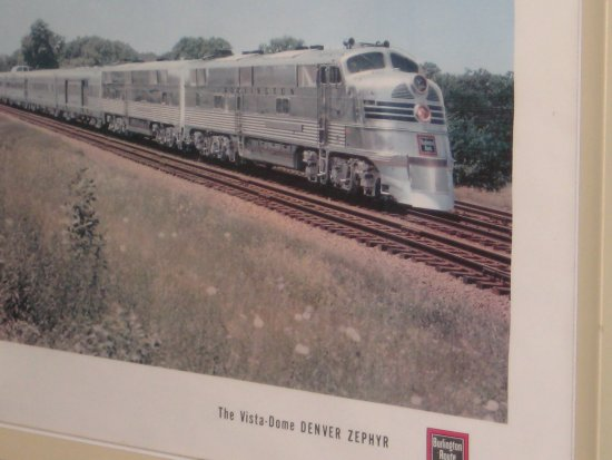 Picture of the Burlington Denver Zephyr - used to go thru Galesburg