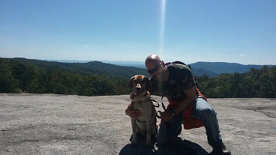 Roaring Gap, Северная Каролина: Me and my dog at the summit