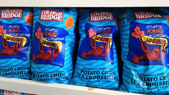 Hartland, Καναδάς: Mmmm... lobster chips!