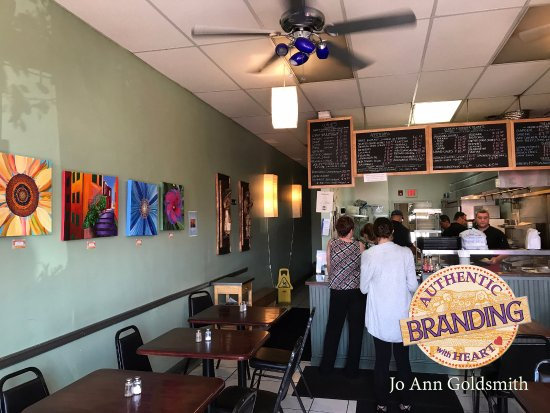 Dedham, MA: Featuring Local Artist's, these paintings add even more color to Kouzina's Authentic Greek Fare.