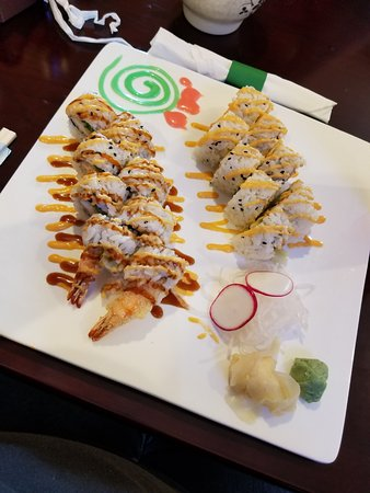 Carbondale, IL: Spicy California roll and Fried Shrip Roll